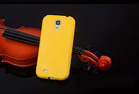 Силиконовый желтый чехол для Samsung Galaxy S4