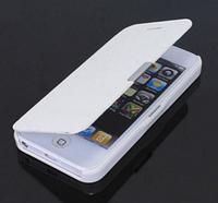 Белый чехол-книжка для Iphone 5/5S на магните