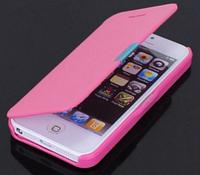 Розовый чехол-книжка для Iphone 5/5S на магните, фото 1