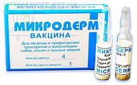 Вакцина Микродерм против трихофитии и микроспории кошек, собак, пушных зверей, 1 фл. - 1 доза