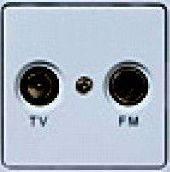 РСТ-2-ГЖ Розетка антенная (механизм без рамки) (жемчужный металлик)