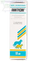 Амитразин акарицидные капли при отодектозе, нотоэдрозе кошек и демодекозе собак, 10 мл