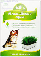 Альпийские луга Трава для кошек (лоток), 120 г, Экопром