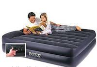 Двуспальная надувная кровать Intex (163х203х47 см.) со встроенным электрическим насосом