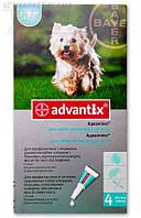 Advantix (Адвантикс) капли на холку от блох и клещей для собак от 4 до 10 кг, 1 тюб. по 1 мл, Bayer