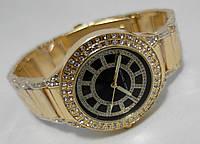 Часы женcкие Michael Kors gold cristal, черный циферблат