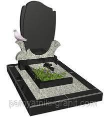 Пам'ятники з граніту від виробника (Зразок №111)