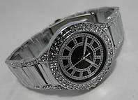 Часы женcкие Michael Kors silver cristal, черный циферблат
