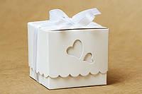 "Бонбоньерка коробочка с крышечкой ""Два сердца"""