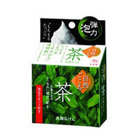 Мыло с экстрактом зеленого чая в наборе с сеточкой для создания пены 80 г COW SOAP Shizengokochi