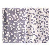 Набор тканей Веточки серо-голубые 2 вида 50х50 см