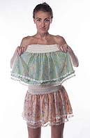 Короткая шифоновая юбка, Колибри, фото 1