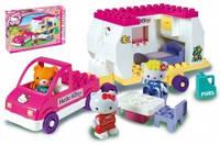 """Детский конструктор Unico Plus """"Дом на колесах Hello Kitty"""""""