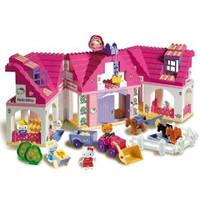"""Детский конструктор Unico Plus """"Загородный дом Hello Kitty"""""""
