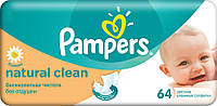 Детские влажные салфетки Pampers Natural Clean 64 шт. (1224842)