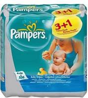 Детские влажные салфетки Pampers Baby Fresh Clean Quatro (3+1) x 64 шт. (1227901)
