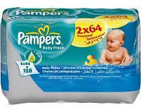 Детские влажные салфетки Pampers Baby Fresh Clean Duo 2х64 шт. (1224655)