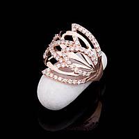 Женское золотое кольцо с фианитами
