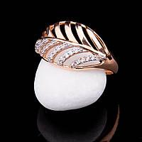 Женское золотое кольцо (фианиты)