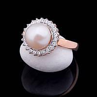 Женское золотое кольцо с жемчугом