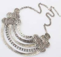 Ожерелье колье серебро антик tb1132 - ОПТ