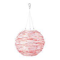 СОЛВИДЕН Подвесная светодиодная лампа, шаровидный красный/белый 30 см