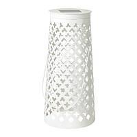 СОЛВИДЕН Напольн светодиод светильник/слн бт, конусообразный белый
