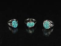 Кольца из голубой бирюзы, литые