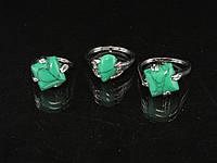 Кольца из зелёной бирюзы, литые