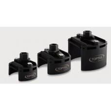 """Съёмник м/фильтра универсальный 115-140 мм 1/2"""" или под ключ 24 мм Toptul JDCA0114, фото 2"""