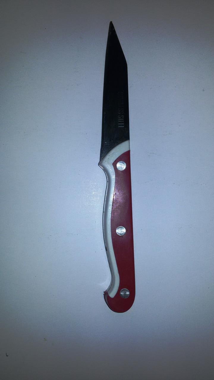 Нож металлический 20 см (красный)