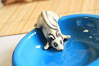 """Миска для животных """"Мышка"""" лепка."""