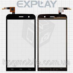 Сенсорный экран (Touchscreen) для Explay Blaze, черный, оригинал