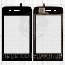 Touchscreen (сенсорный экран) для Explay Bit, черный, оригинал