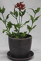 Горшок для цветов из керамики Патина фиолет