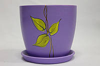Горшок керамический для цветов рисовка