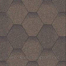 Бітумна черепиця Aquaizol Мозаїка 320х1000 мм Коричнева мікс Вінниця