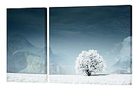 Модульная картина 38 зимнее дерево
