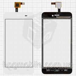 Touchscreen (сенсорный экран) для Explay Craft, белый, оригинал