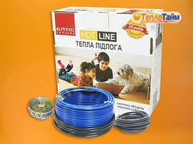 Двожильний нагрівальний кабель (тонкий) HOT LINE дт-230 (1,9 кв.м), (двухжильный нагревательный кабель)