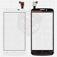 Touchscreen (сенсорный экран) для Explay HD Quad 3G, белый, оригинальный