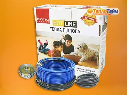 Двожильний гріючий кабель HOT LINE ДТ-1000 (8,4 кв.м), (двужильный нагревательный кабель)