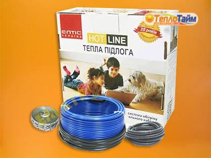 Двожильний нагрівальний кабель (тонкий) HOT LINE дт-1200 (9,7 кв.м), (двухжильный нагревательный кабель)