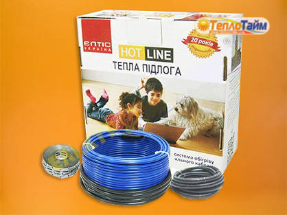 Двожильний нагрівальний кабель (тонкий) HOT LINE дт-1550 (13,0 кв.м), (двухжильный нагревательный кабель)