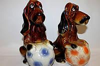 Керамическая копилка-собака.