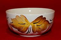 Керамическая салатница с росписью.