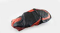 """Чехол сиденья   Storm   (черно-красный, KOSO)   """"SOFT SEAT"""""""