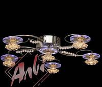 Люстра галогеновая на 6 лампочек с подсветкой и пультом управления для детской, кухни