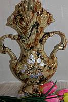 Фигурная керамическая ваза для цветов.