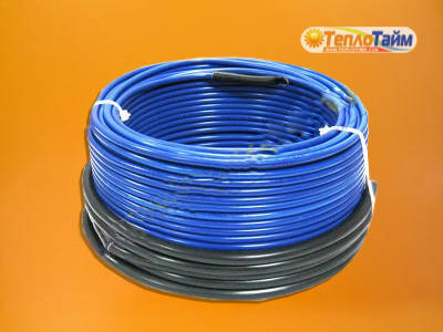 Двожильний нагрівальний кабель (тонкий) HOT LINE ндт-1000 (8,4 кв.м), (двухжильный нагревательный кабель)